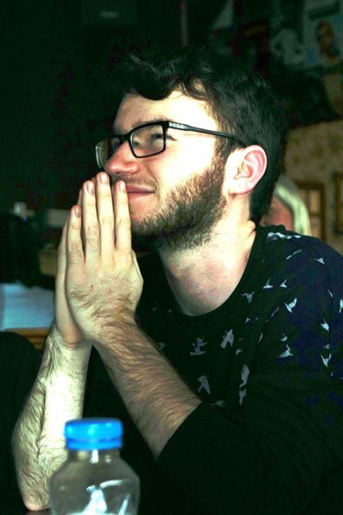 Bristol 2016: Adam prays for divine help during the tournament.