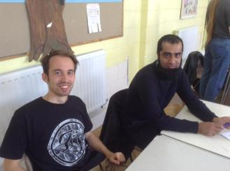 Nottingham 2015: John and Zubair are all smiles.