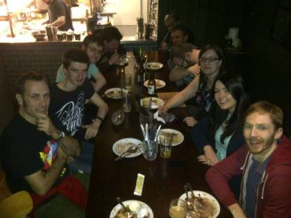 Glasgow 2015: A post-tournament group meal.