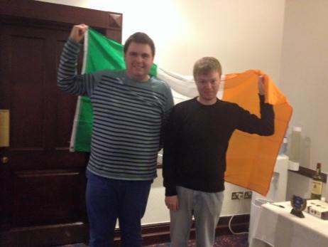 Dublin 2015: Finalists James and Kevin fit in some posing before their final.