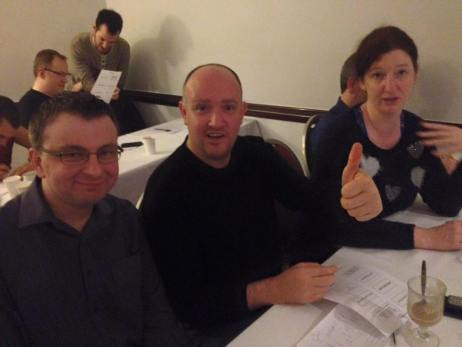 Dublin 2015: Chris, Eoin and Heather in jovial spirits.