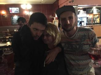 MK 2016: Eddy, Mark and Peter snuggle up in the pub.