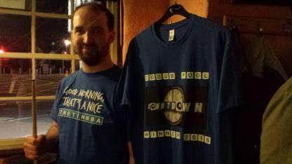Dublin 2016: Adam shows off his own Countdown t-shirt.