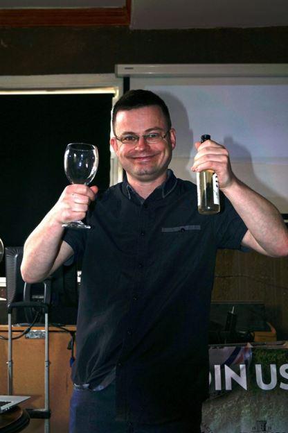 Bristol 2016: Organiser Mark Murray gets his drink on.