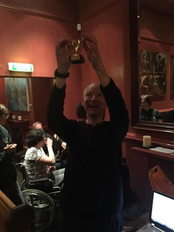 Manchester 2017: Stephen with his trophy.