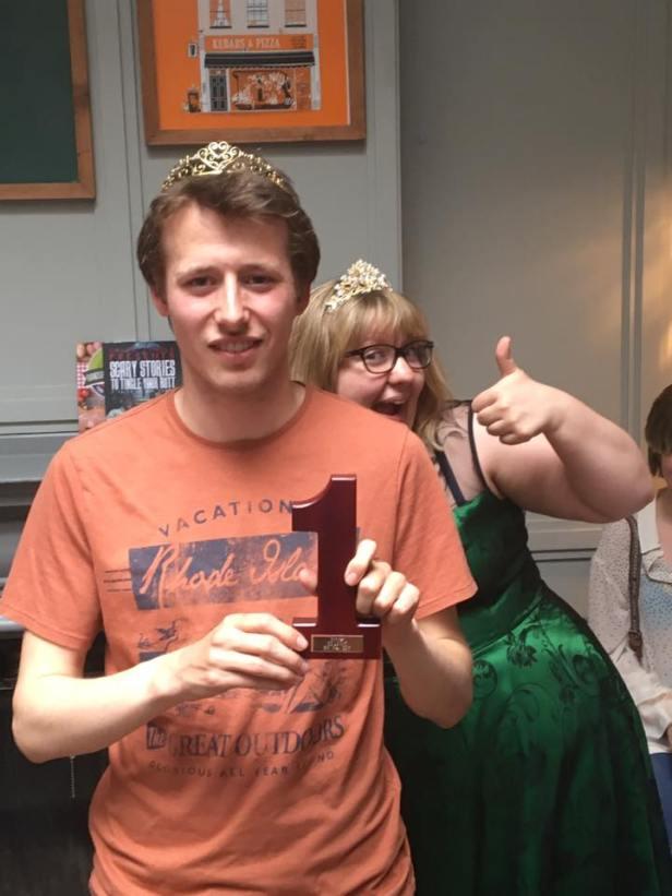 London 2017 champ, Oli, with organiser Jen