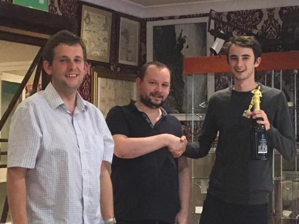 Bournemouth 2017 champ Rob with organisers Jeff and Sean