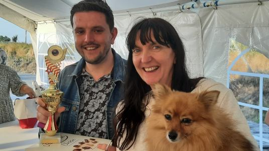 Waterford 2021: Champ Eddy with mum Annalisa and dog Tilly!