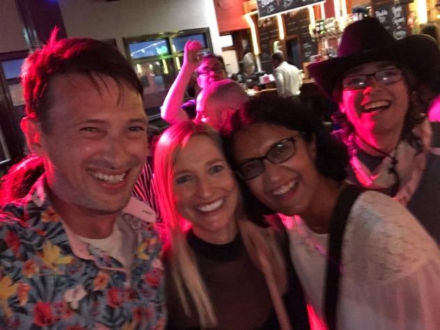 Blackpool 2021: Paul, Fi, Tas, and Tom love the karaoke bar!