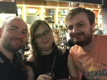 Blackpool 2021: Steven, Coral, and Adam